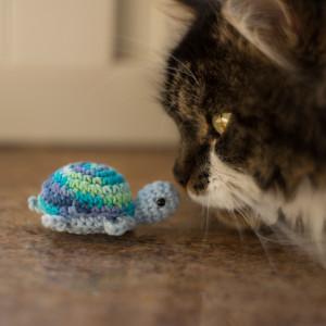 żółw z kocimiętką i walerianą zabawka dla kota N